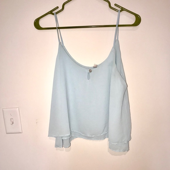 Lucy Love Tops - Blue spaghetti strap blouse